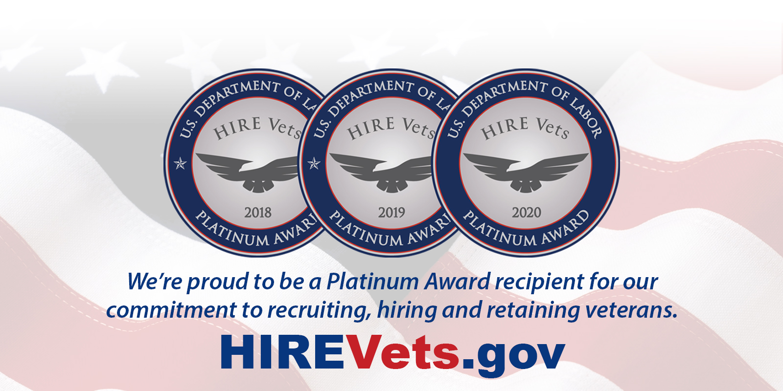 Patricio Enterprises, Inc. recognized with HIRE Vets Platinum Medallion Award